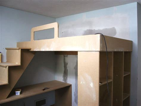 how to build a loft bed frame how to build a loft bed with a desk underneath hgtv