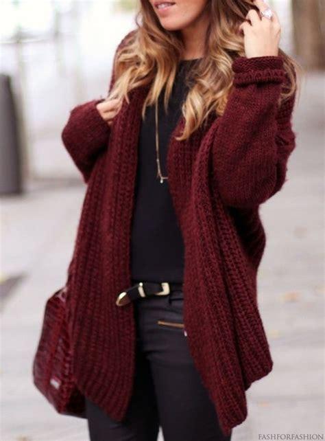 burgundy knit cardigan thick maroon cardigan black