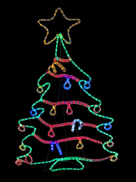 tree with lights and decorations rope light silhouettes led tree with
