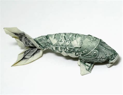Money Origami Koi Neatorama