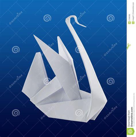 origami schwan origami schwan stockfoto bild 27696380