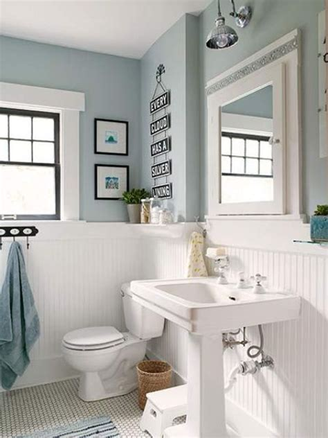 small blue bathroom ideas 33 wainscoting ideas with pros and cons digsdigs
