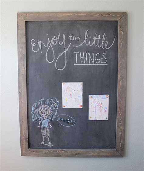 Diy Framed Chalkboard Domestically Speaking