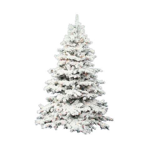 white artificial trees shop vickerman 7 5 ft pre lit alaskan pine flocked