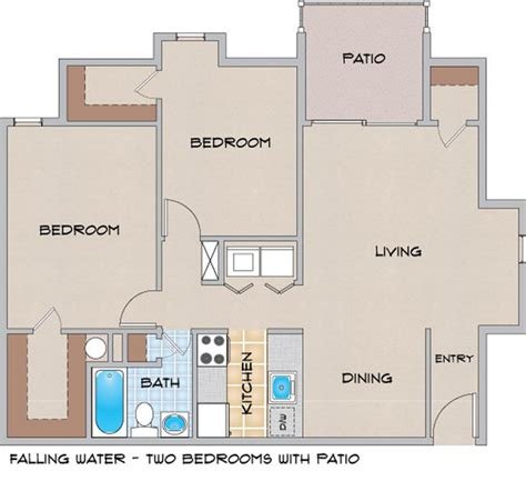 falling water floor plans falling water la apartment finder