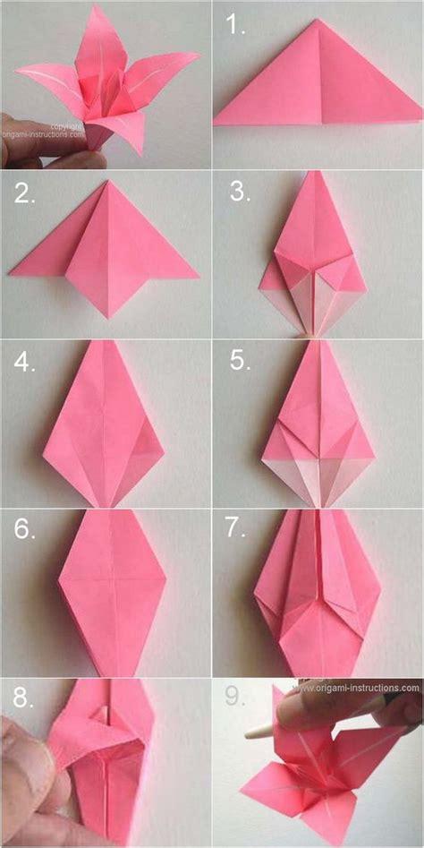 steps in origami flower diy paper origami vintage wedding corsages