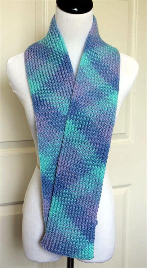knitting a scarf on a loom multicolored scarf loom knit