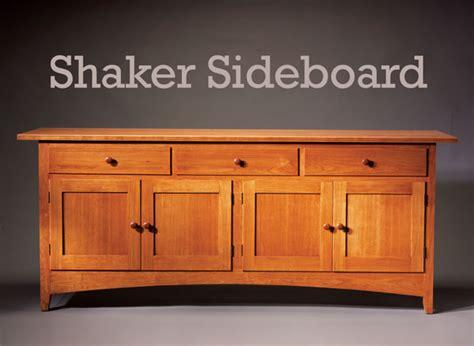 sideboard woodworking plans shaker sideboard popular woodworking magazine