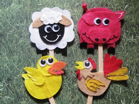 farm animals crafts for s craft corner farm animals on a stick