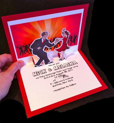 how to make pop up invitation cards how i made my swingin pop up invitations offbeat