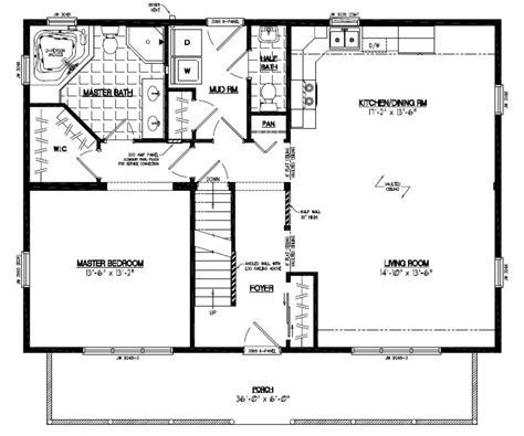 28 x 40 house plans certified homes mountaineer deluxe certified home floor