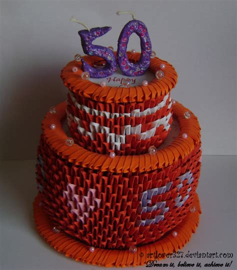 3d origami cake 755px