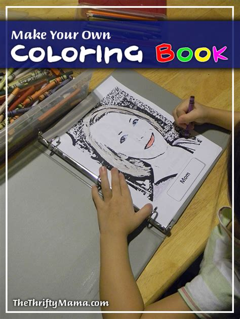 print your own picture book make your own coloring book for free thrifty