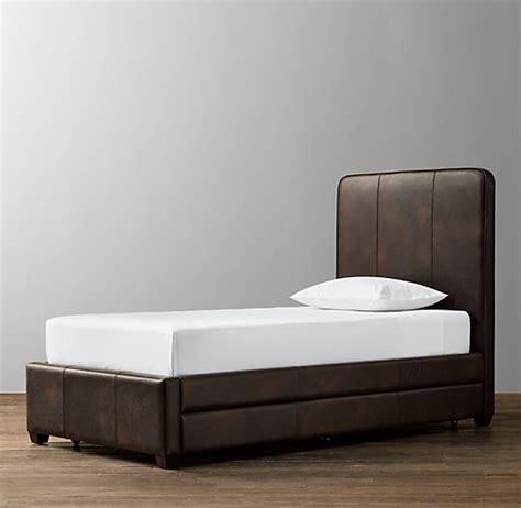 leather bed with trundle leather bed with trundle