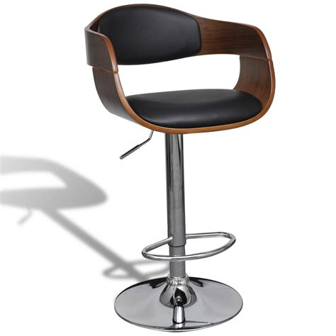 swivel chair with backrest vidaxl co uk adjustable swivel bar stool leather with
