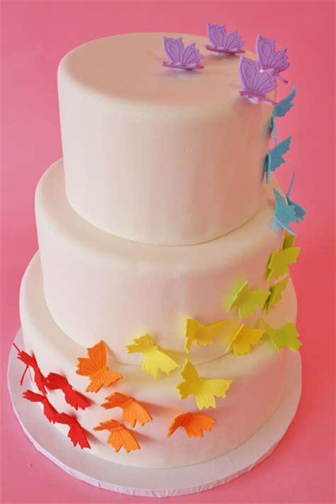 Mod Cakery   Girl Birthday Cakes   Rainbow Butterfly