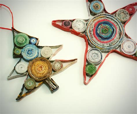 paper crafts recycled newspaper alternative giving 9 ideas to make the holidays happy and