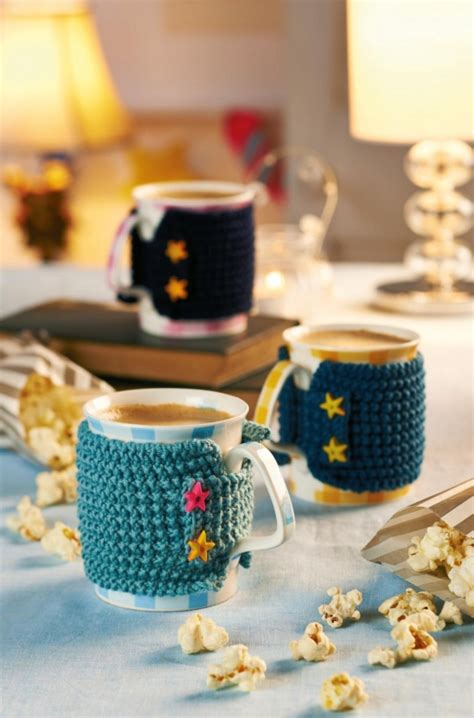 knitted mug hugs free pattern homemaker magazine forum baking free downloads