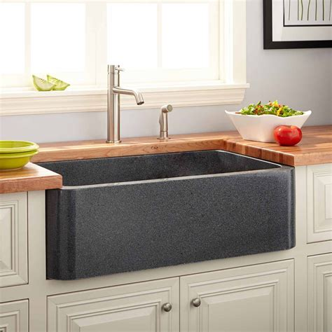 gray kitchen sink 36 quot polished granite farmhouse sink blue gray kitchen