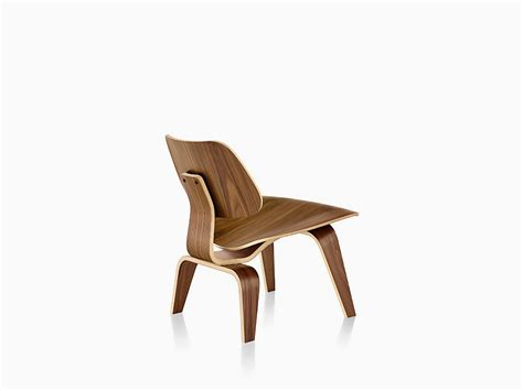 Eames Molded Plywood Chairs by Eames Molded Plywood Lounge Chair With Wood Base Herman