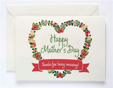 mothers day cards to make s day in a pinch 30 free printables 187 dollar