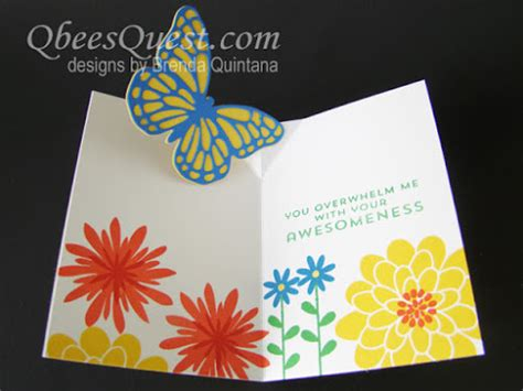 how to make pop up thank you cards qbee s quest easy butterfly pop up card