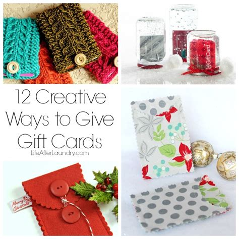 ways to make cards 12 creative ways to give gift cards after laundry