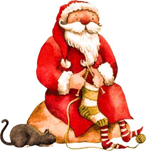 Santa Knitting Santa Claus Is Coming To Town