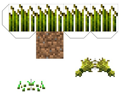 paper craft items papercraft wheat block improved comes with seeds and