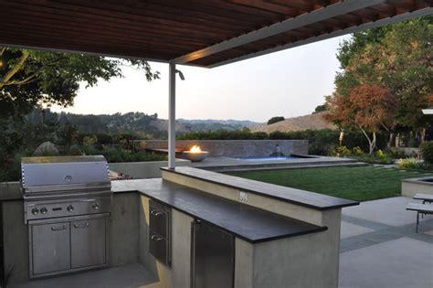 outdoor kitchen contemporary patio san francisco by huettl landscape architecture