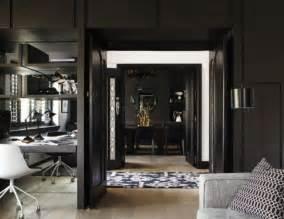 home interior accents impressive black interior design with gold and orange