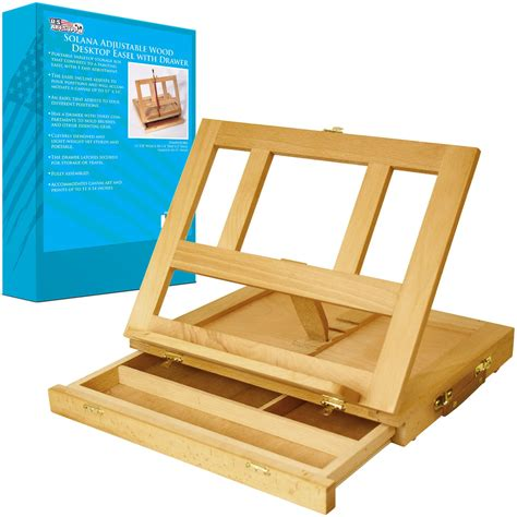 desk easel for paint wood desk easel drawer painting storage stand table