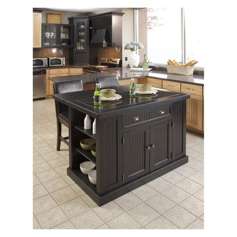 black kitchen island with stools home styles nantucket kitchen island with two stools distressed black kitchen islands and