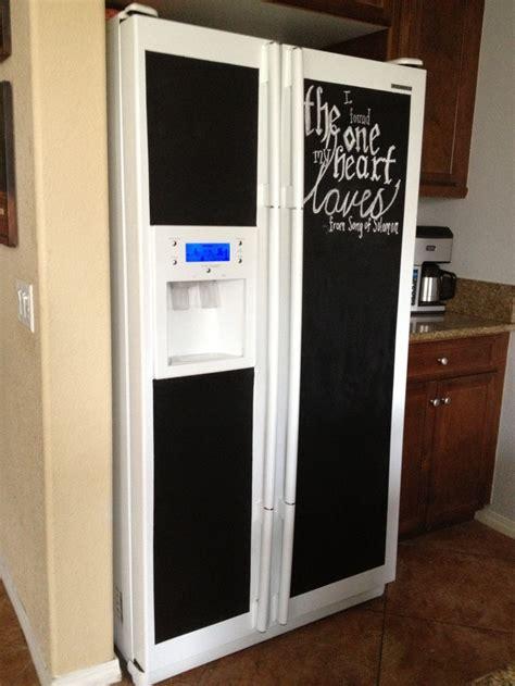 chalkboard paint in fridge chalkboard paint on the refrigerator chalk me