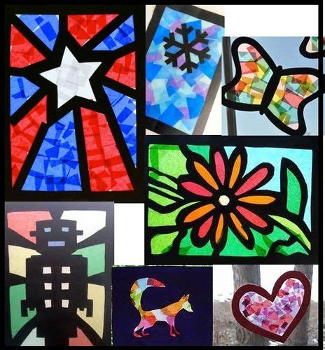 stained glass paper craft cellophane craft paper stained glass windows ashhurst