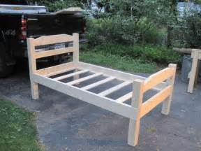 how to make a wood bed frame how to build a bed frame
