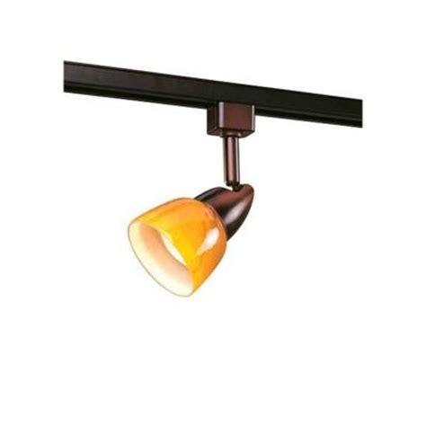 home depot lighting fixture hton bay 1 light rubbed bronze linear track