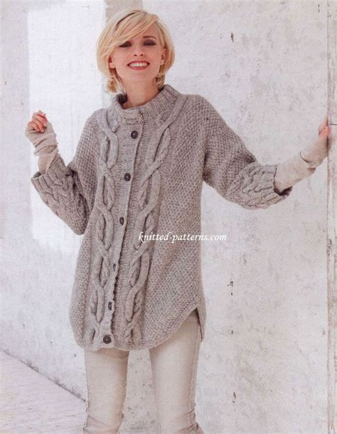 knitted jacket patterns free womens 1000 images about outerwear cardi s jackets etc on