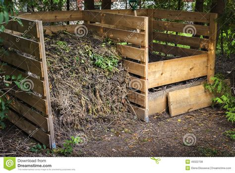 backyard compost bin backyard compost bins stock photo image 49322708