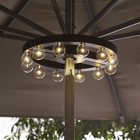 patio umbrella marquee lights the green