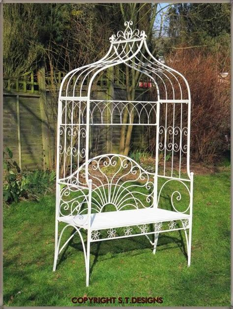 Garden Arch And Bench Beautiful Garden Bench Seat With Arch Antique