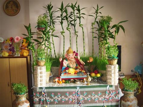 home decoration for ganesh festival decoration ideas for ganesh chaturthi at home festivals