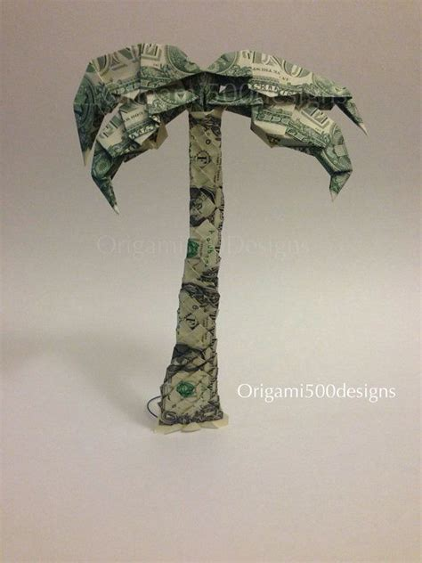 origami palm tree one beautiful handcrafted money origami palm tree money