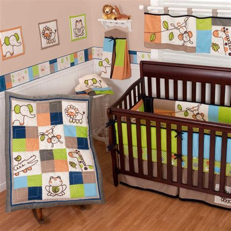 animal crib bedding sumersault animal patch crib bedding collection baby