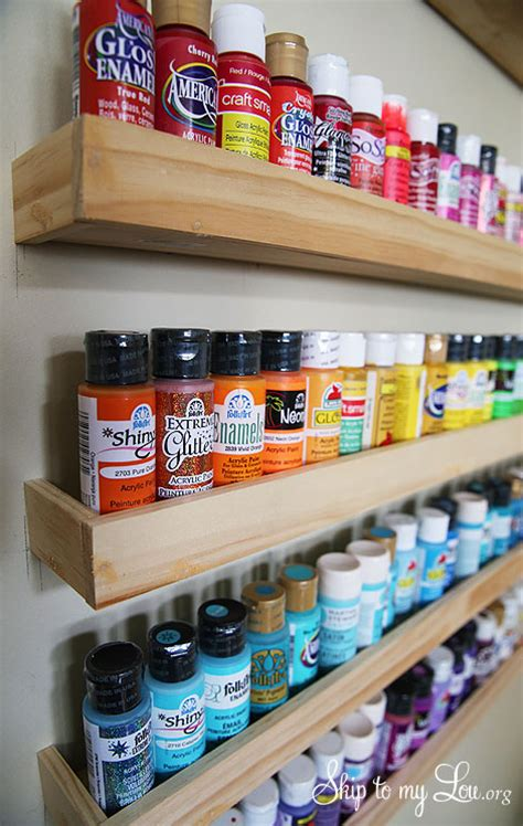 reno acrylic paint craft paint storage wood project diy builds reno