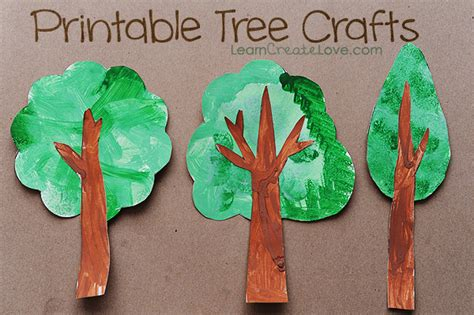 trees craft printable tree crafts