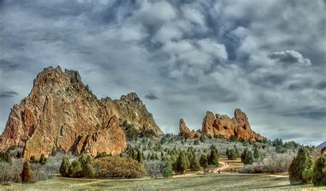 Garden Of The Gods Winter Late Winter In Garden Of The Gods Hdr Photo Hdr Creme