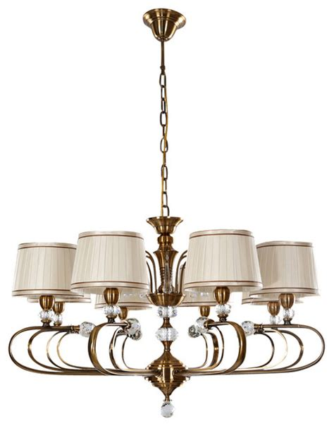 drum shaped chandeliers 8 light fabric drum shaped shade chandelier with