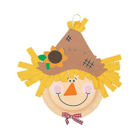 paper plate scarecrow craft easy fall crafts that anyone can make happiness is