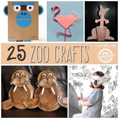 zoo animal crafts for 25 zoo animal crafts and recipes